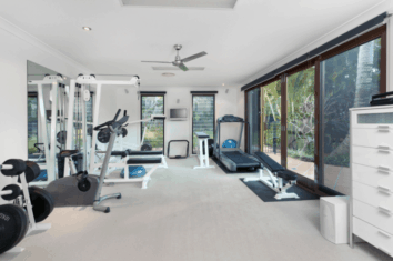 Full home gym set up with machines
