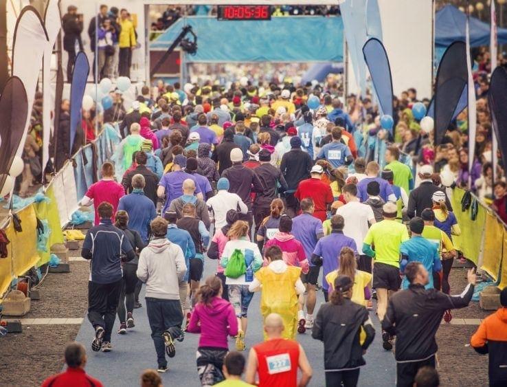 A marathon just about to start