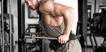 a man exercising with a dip belt
