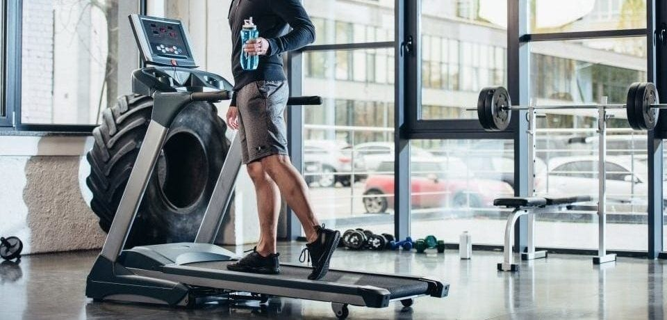 a man on his treadmill