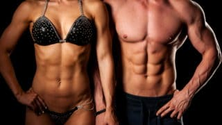 fit couple with visible abs and a low body fat percentage